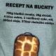Recept na Buchty  - Pánské triko khaki s černým potiskem - velikost M