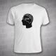 Gym in head - pánské triko bílé s černým potiskem - velikost XL