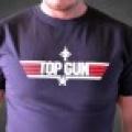 Top Gun - pánské triko světle modré s bílým potiskem - M