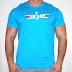 Triko Top Gun - triko světle modré s bílým potiskem - velikost XL