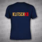 Klitschko - pánské triko námořnicky modré se zlatým potiskem VZADU - velikost XL