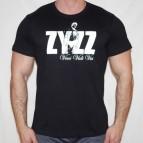 Zyzz-veni,vidi,vici - Pánské triko černé s bílým potiskem - velikost XL