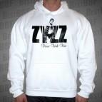 Zyzz-Veni,Vidi,Vici - Mikina s kapucí bílá s černým potiskem - velikost XL