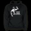 Pumping Iron - Arnold - pánská mikina s kapucí černá s bílým potiskem - velikost L