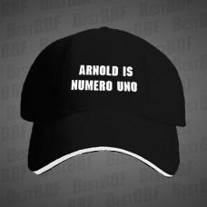 Arnold Is Numero Uno-kšiltovka černá s bílým potiskem