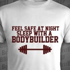 Feel safe at night. Sleep with bodybuilder