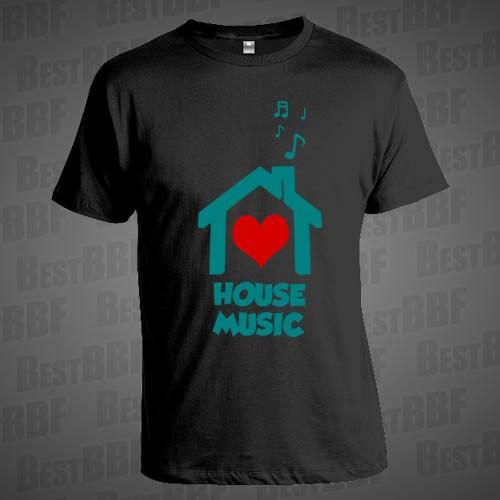 6187eb5a594 House Music - Pánské triko - BestBBF E-SHOP