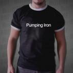 Pumping Iron 2 - nápis - Pánské triko dvoubarevné