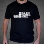 Real Men Use Three Pedals - Pánské triko