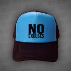 NO Excuses - big NO - Kšiltovka Trucker