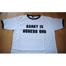 Denny Is Numero Uno - triko dvoubarevné bílé s černým potiskem - velikost L
